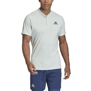 Men's Tennis Polo Adidas Freelift Polo  Dash Green/Tech Indigo FK0805
