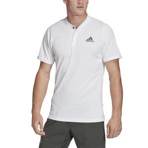 Polo Tenis Hombre Adidas Freelift Polo  White/Legend Earth FQ2434