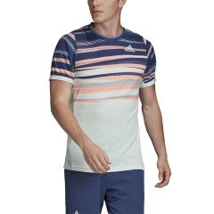 Adidas Freelift Print Maglietta - Dash Green/Tech Indigo