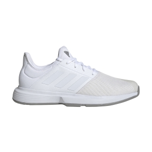 Men`s Tennis Shoes Adidas GameCourt  Ftwr White/Dove Grey EG2008