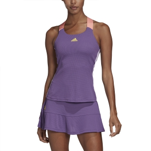 Women`s Tennis Tanks Adidas Gameset Tank  Tech Purple/Shock Yellow FK0760