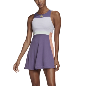 Vestido de Tenis Adidas HEAT.RDY Vestido  Tech Purple/Shock Yellow FK0761