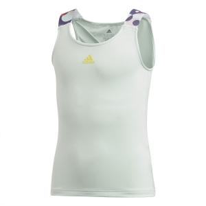Top y Camisetas Niña Adidas Keyhole Top Nina  Dash Green/Shock Yellow FK7149