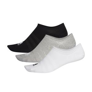 Tennis Socks Adidas Lightweight No Show x 3 Socks  Medium Grey Heather/White/Black DZ9414