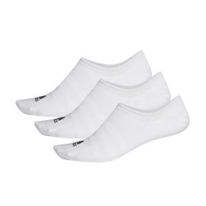 Tennis Socks Adidas Lightweight No Show x 3 Socks  White DZ9415