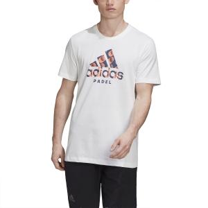 Men's Tennis Shirts Adidas Padel Logo TShirt  White FM5576