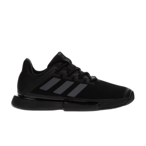 Men`s Tennis Shoes Adidas SoleMatch Bounce  Core Black/Night Metallic EF2439