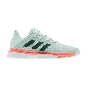 Men`s Tennis Shoes Adidas SoleMatch Bounce  Dash Green/Core Black/Signal Coral EG2216