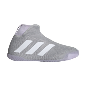 Women`s Tennis Shoes Adidas Stycon  Grey Two/Ftwr White/Purple Tint EF2696