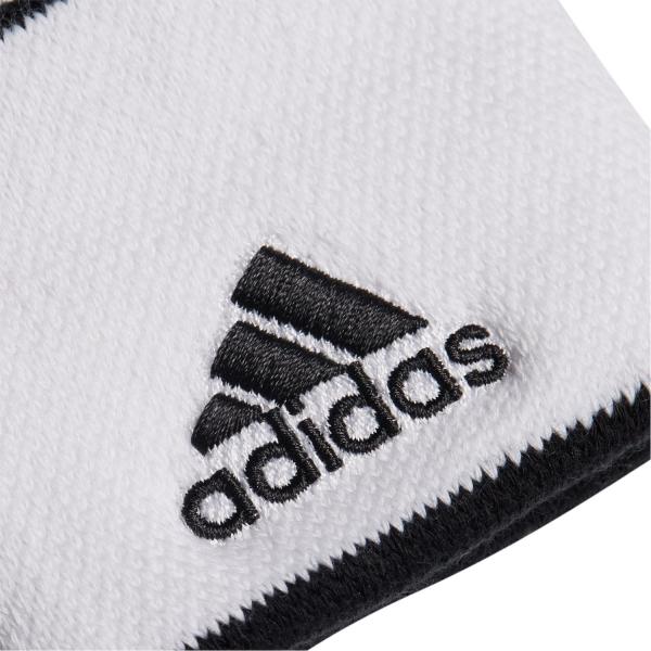 Mezclado Isla Stewart Adquisición  adidas Small Muñequeras de Tenis - White/Black