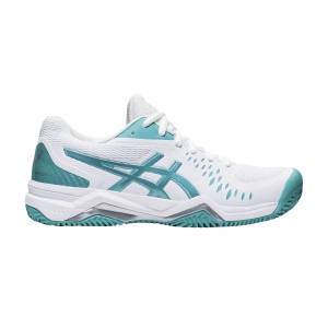 Women`s Tennis Shoes Asics Gel Challenger 12 Clay  White/Techno Cyan 1042A039107