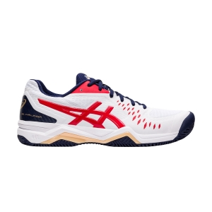 Men`s Tennis Shoes Asics Gel Challenger 12 Clay  White/Classic Red 1041A048115