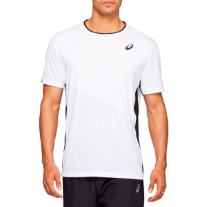 Camisetas de Tenis Hombre Asics Club Camiseta  Brilliant White 2041A088100
