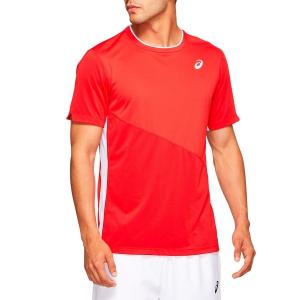Men's Tennis Shirts Asics Club TShirt  Classic Red 2041A088600