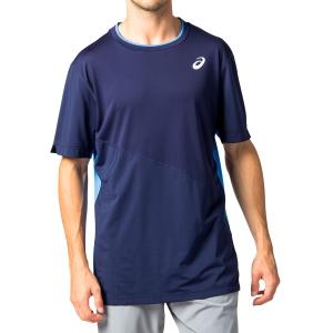 Men's Tennis Shirts Asics Club TShirt  Peacoat 2041A088401