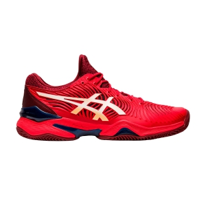 Men`s Tennis Shoes Asics Court FF 2 Clay  Classic Red/White 1041A082600