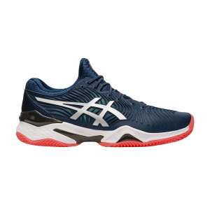 Men`s Tennis Shoes Asics Court FF 2 Clay  Mako Blue/White 1041A082400