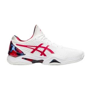 Men`s Tennis Shoes Asics Court FF Novak L.E Clay  White/Classic Red 1041A210110