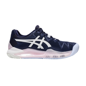 Women`s Tennis Shoes Asics Gel Resolution 8 Clay  Peacoat/White 1042A070401