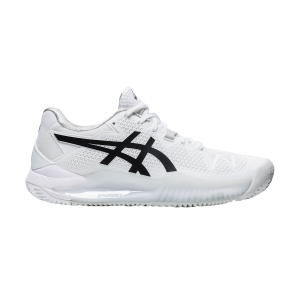 Calzado Tenis Mujer Asics Gel Resolution 8 Clay  White/Black 1042A070101
