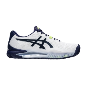Calzado Tenis Hombre Asics Gel Resolution 8 Clay  White/Peacoat 1041A076102