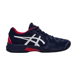 Junior Tennis Shoes Asics Gel Resolution 8 Clay GS Boy  Peacoat/Classic Red 1044A019400