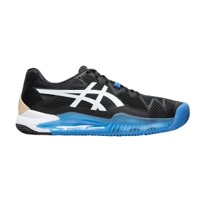Men`s Tennis Shoes Asics Gel Resolution 8 Clay  Black/White 1041A076001