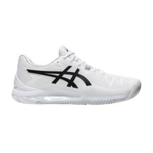 Calzado Tenis Hombre Asics Gel Resolution 8 Clay  White/Black 1041A076101