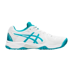 Calzado Tenis Niños Asics Gel Resolution 8 GS Ninos  White/Lagoon 1044A018106