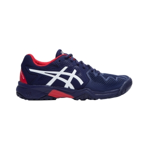 Junior Tennis Shoes Asics Gel Resolution 8 GS Boy  Peacoat/Classic Red 1044A018400