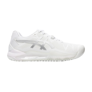 Women`s Tennis Shoes Asics Gel Resolution 8  White/Pure Silver 1042A072100