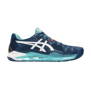 Scarpe Tennis Uomo Asics Gel Resolution 8  Mako Blue/White 1041A079401