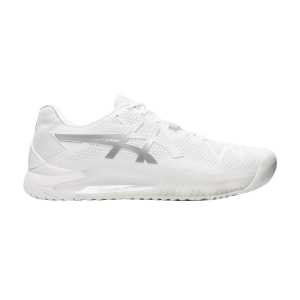 Men`s Tennis Shoes Asics Gel Resolution 8  White/Pure Silver 1041A079100