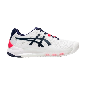 Women`s Tennis Shoes Asics Gel Resolution 8  White/Peacoat 1042A072103