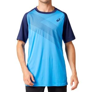 Men's Tennis Shirts Asics Club GPX TShirt  Blue Coast 2041A085400