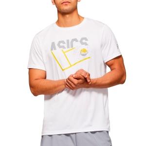 Camisetas de Tenis Hombre Asics Graphic Camiseta  Brilliant White 2041A090100