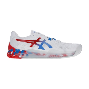 Women`s Tennis Shoes Asics Gel Resolution 8 Clay Retro Tokyo L.E.  White/Electric Blue 1042A100100