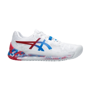 Women`s Tennis Shoes Asics Gel Resolution 8 Retro Tokyo L.E.  White/Electric Blue 1042A095100