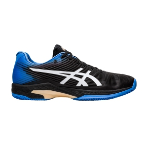Men`s Tennis Shoes Asics Solution Speed FF Clay  Black/Blue Coast 1041A004012