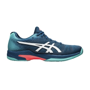 Calzado Tenis Hombre Asics Solution Speed FF Clay  Mako Blue/White 1041A004407