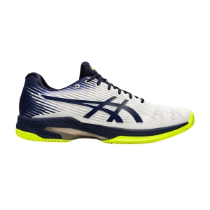Calzado Tenis Hombre Asics Solution Speed FF Clay  White/Peacoat 1041A004104