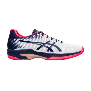 Women`s Tennis Shoes Asics Solution Speed FF Clay  White/Peacoat 1042A003102