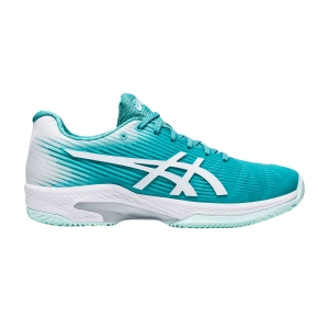 Calzado Tenis Mujer Asics Solution Speed FF Clay  Techno Cyan/White 1042A003300