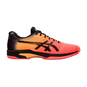 Men`s Tennis Shoes Asics Solution Speed FF Clay Modern Tokyo  Flash Coral/Black 1041A153700