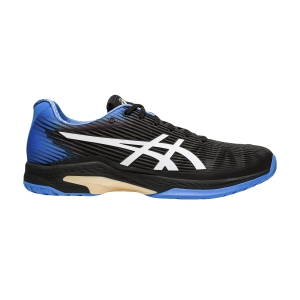 Men`s Tennis Shoes Asics Solution Speed FF  Black/Blue Coast 1041A003012