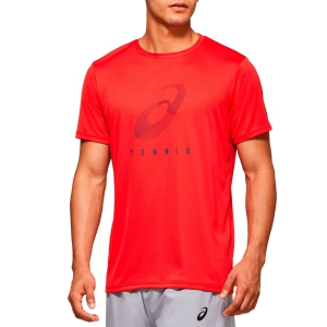 Camisetas de Tenis Hombre Asics Spiral Camiseta  Classic Red 2041A100600