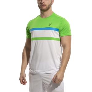 Camisetas de Tenis Hombre Australian Ace Block Camiseta  Bianco/Kawasaki/Turchese 78574002A