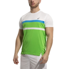Australian Ace Block T-Shirt - Kawasaki/Bianco/Turchese