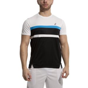 Camisetas de Tenis Hombre Australian Ace Block Camiseta  Nero/Bianco/Turchese 78574003