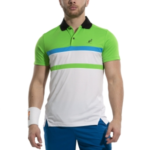 Men's Tennis Polo Australian Ace Block Polo  Bianco/Verde Kawasaki 78391002